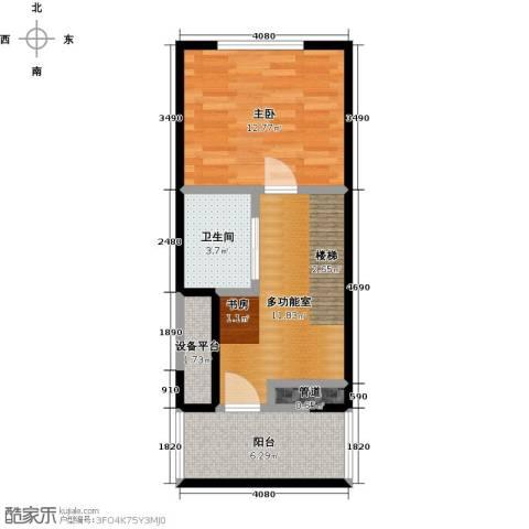 瑞景名郡1室0厅1卫0厨43.00㎡户型图