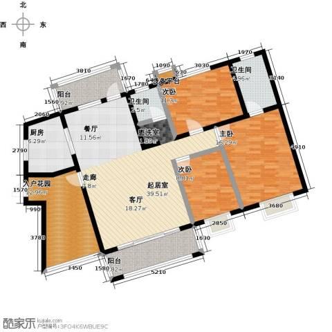 中原国际时代皇庭3室0厅2卫1厨133.00㎡户型图