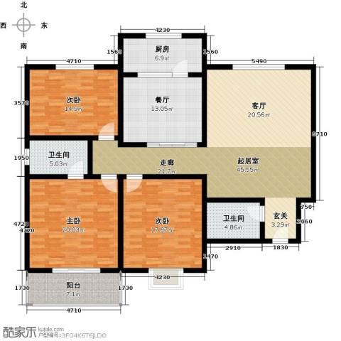阳光公寓3室1厅2卫1厨152.92㎡户型图