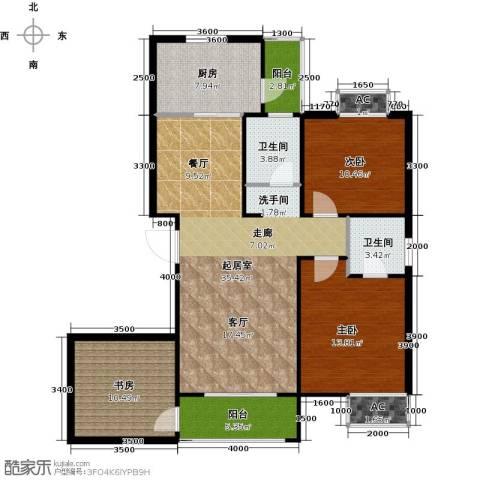 东岭欣城3室0厅2卫1厨125.00㎡户型图