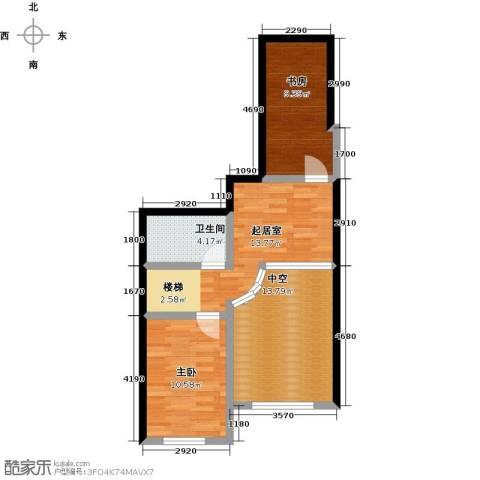 哈东上城2室0厅1卫0厨60.00㎡户型图