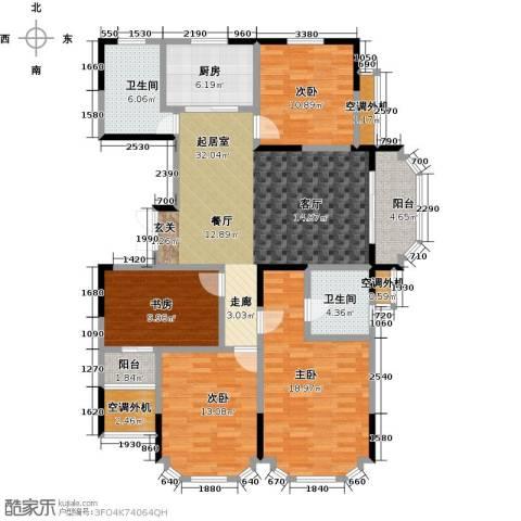 名豪天台苑4室0厅2卫1厨137.00㎡户型图