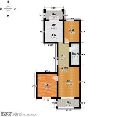 好民居康泰嘉园2室0厅1卫0厨94.00㎡户型图