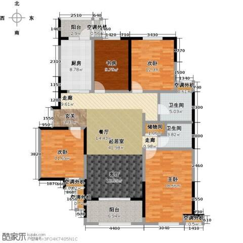 名豪天台苑4室0厅2卫1厨155.00㎡户型图