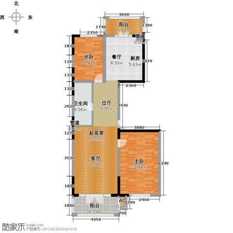 好民居康泰嘉园2室0厅1卫0厨123.00㎡户型图