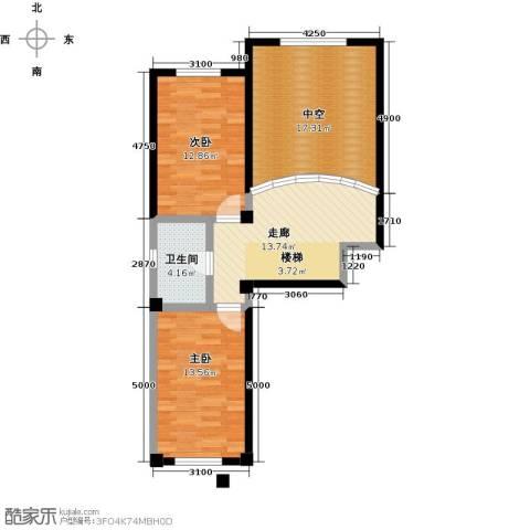 哈东上城2室0厅1卫0厨90.00㎡户型图