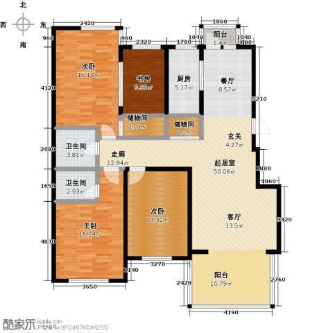 山水家园4室0厅2卫1厨145.00㎡户型图