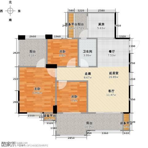 城南壹�3室0厅1卫1厨118.00㎡户型图