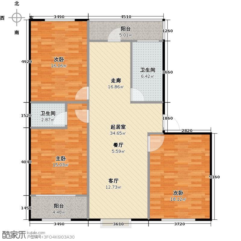 和睦佳园和睦佳园户型E3室1厅1卫110.00㎡户型3室1厅1卫