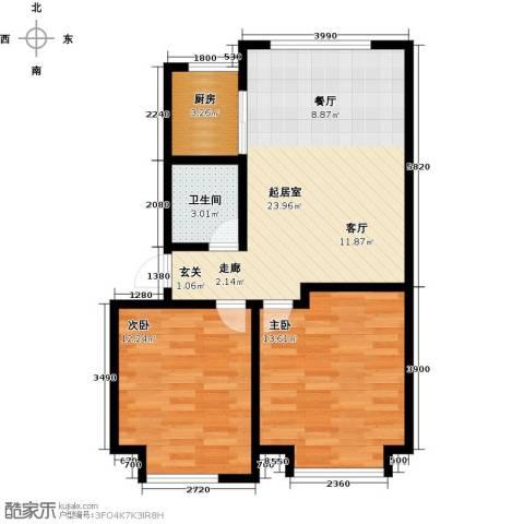 山水家园2室0厅1卫1厨98.00㎡户型图