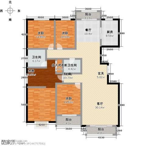 燕大星苑红树湾4室1厅2卫1厨248.00㎡户型图