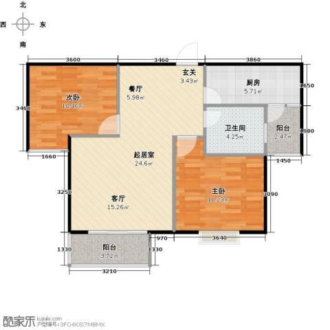泰和世家2室0厅1卫1厨87.00㎡户型图