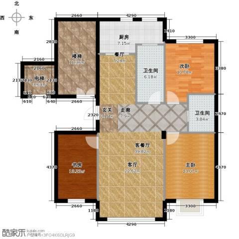 阳光世纪城3室1厅2卫1厨118.00㎡户型图