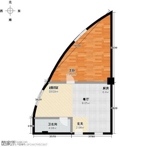 名人国际1室0厅1卫0厨73.00㎡户型图