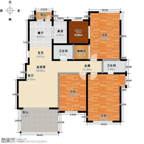 山水家园4室0厅2卫1厨158.00㎡户型图