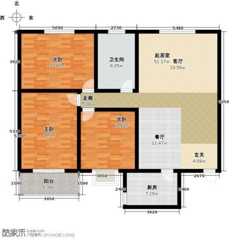 阳光公寓3室0厅1卫1厨138.00㎡户型图
