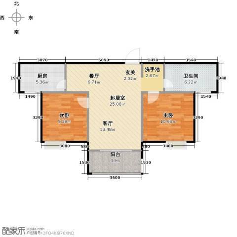 泰和世家2室0厅1卫1厨91.00㎡户型图