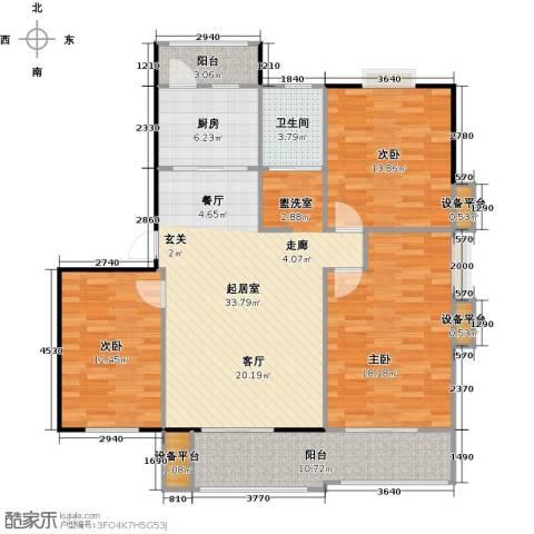 喜利达名苑3室0厅1卫1厨140.00㎡户型图