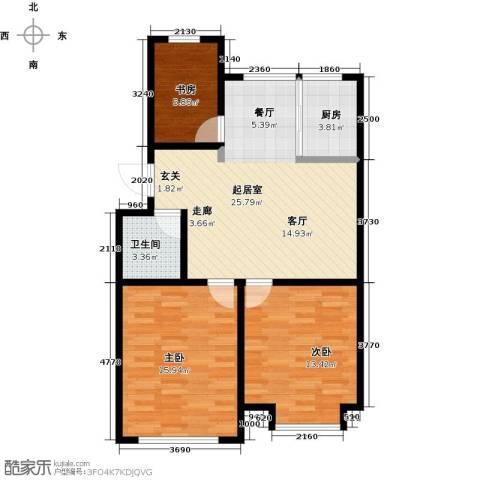 山水家园3室0厅1卫1厨110.00㎡户型图