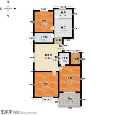 阳光公寓3室0厅2卫1厨143.61㎡户型图