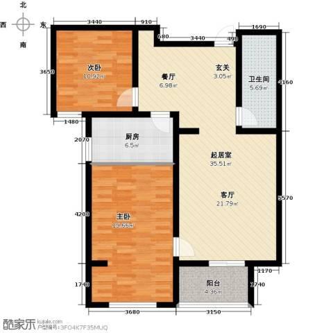 鑫泰园2室0厅1卫1厨94.00㎡户型图