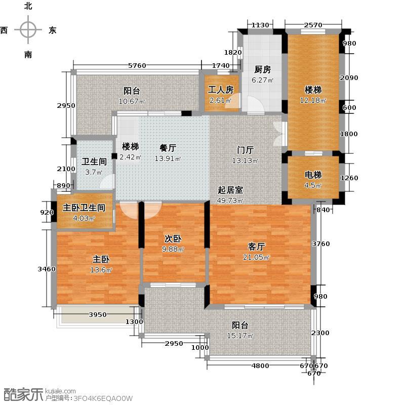 路劲隽悦豪庭D区20-23栋5-6层5层复式02单位1层平面图户型2室1卫1厨