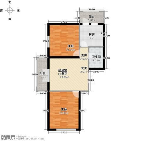 北岸七英里2室0厅1卫1厨71.00㎡户型图