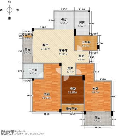 春江名城3室1厅2卫1厨141.00㎡户型图