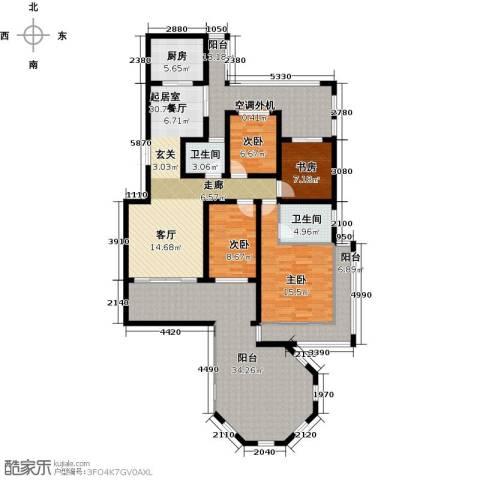 香江帝景4室0厅2卫1厨159.00㎡户型图