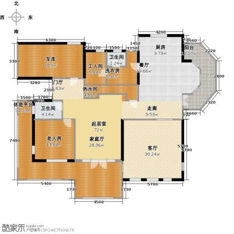 阅湖泊景湾1室1厅2卫0厨273.00㎡户型图
