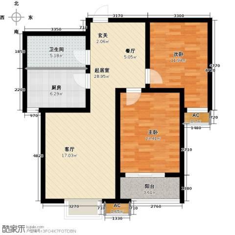 恒星花园2室0厅1卫1厨81.00㎡户型图
