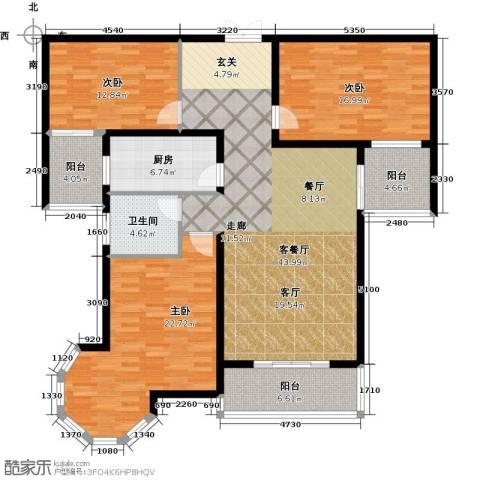 南阳桂花城御景3室1厅1卫1厨139.00㎡户型图