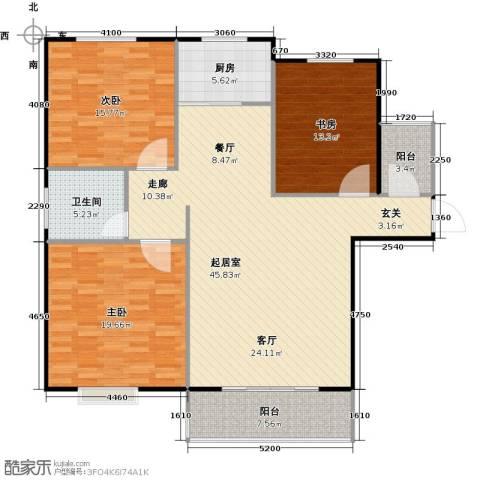 泰和世家3室0厅1卫1厨124.00㎡户型图