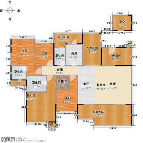 花海湾3室0厅3卫1厨193.00㎡户型图