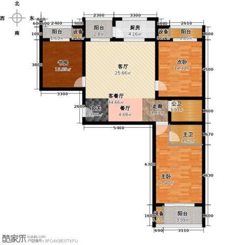 丽水苑3室1厅0卫1厨128.00㎡户型图