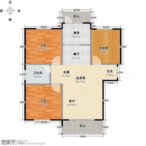 泰和世家2室0厅1卫1厨132.00㎡户型图