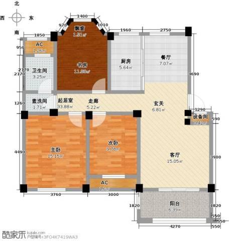 中茵名都3室0厅1卫1厨104.00㎡户型图