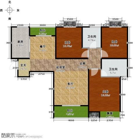 东岭欣城3室0厅2卫1厨115.00㎡户型图