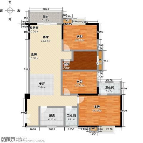 桂林翰林轩4室0厅2卫1厨148.00㎡户型图
