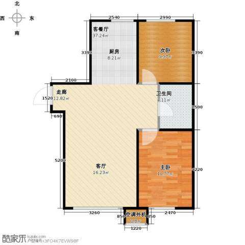 宇生・如意湾2室1厅1卫0厨86.00㎡户型图