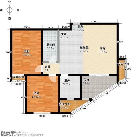 嘉华国际2室0厅1卫1厨95.00㎡户型图