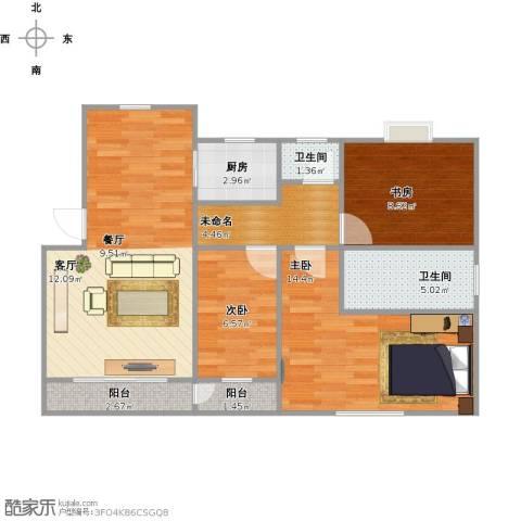 锦绣汇丽苑3室1厅2卫1厨95.00㎡户型图