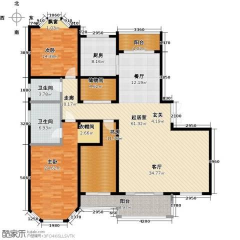 绅派金湖帝景3室0厅2卫1厨188.00㎡户型图