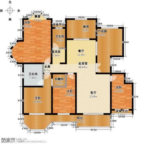 绅派金湖帝景4室0厅2卫1厨191.00㎡户型图