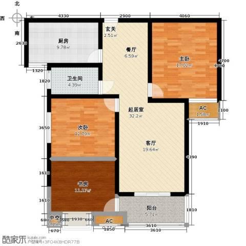 金色维也纳3室0厅1卫1厨110.00㎡户型图