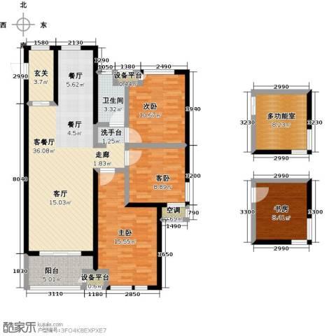绿地外滩1号4室1厅1卫0厨118.85㎡户型图