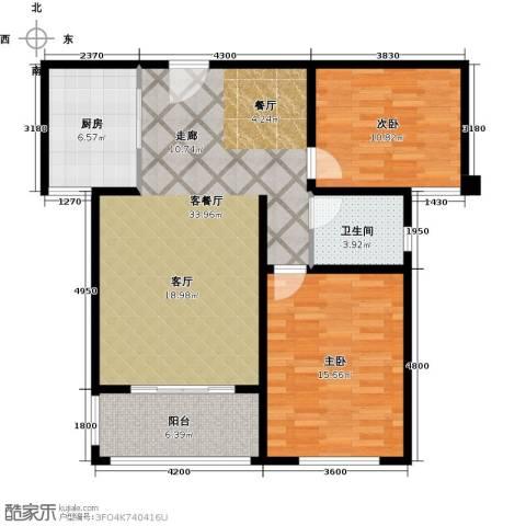 同科・汇丰国际2室1厅1卫1厨86.00㎡户型图