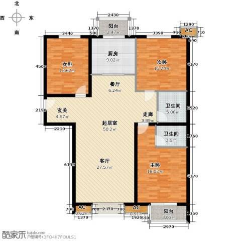 恒星花园3室0厅2卫1厨137.00㎡户型图