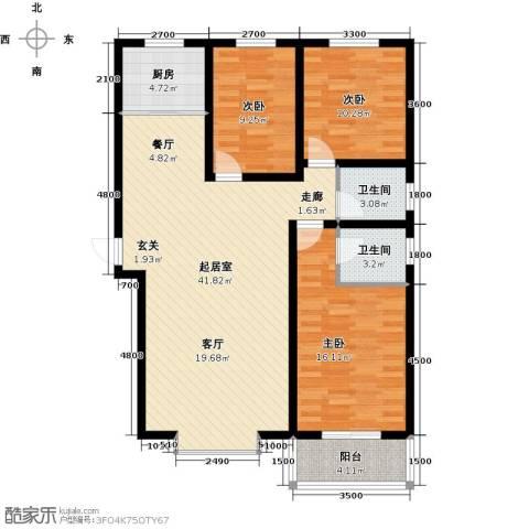 海韵馨园3室0厅2卫1厨129.00㎡户型图