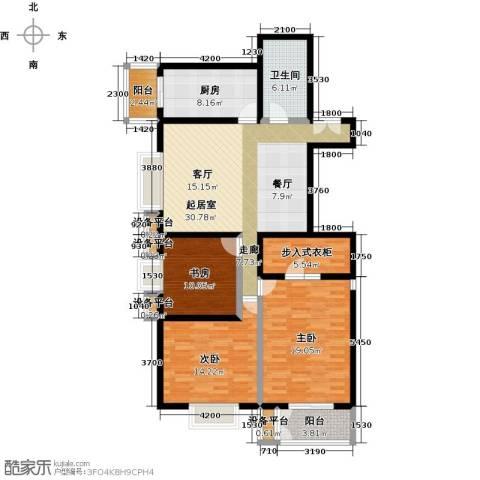 空港米兰花园3室0厅1卫1厨141.00㎡户型图